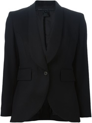 Marc By Marc Jacobs Curved Hem Blazer Black