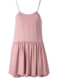 Erika Cavallini Ruffled Tank Top Pink And Purple