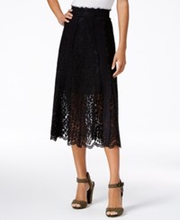 Rachel Roy Floral Lace Midi Skirt Only At Macy's Black