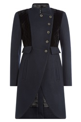 Marc By Marc Jacobs Tailored Wool Coat Blue