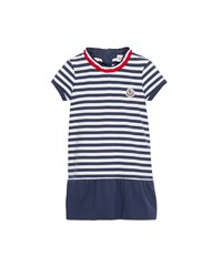 Moncler Short Sleeve Striped Jersey Dress Blue Size 4 6 Size 4