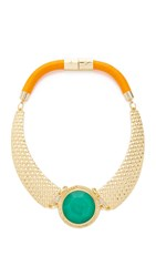 Holst Lee Rio Grande Statement Necklace Gold Multi