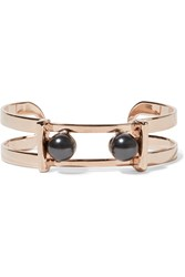Ben Amun Rose Gold Plated Faux Pearl Cuff Metallic