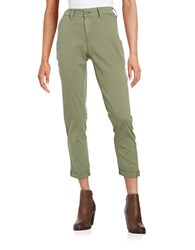 Nydj Petite Cropped Chino Pants Sergeant Olive