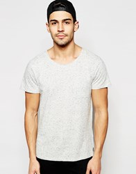 Selected Homme Scoop Neck T Shirt With Fleck Grey