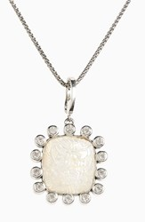 Stephen Dweck Women's Carved Mother Of Pearl Pendant Necklace