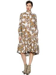 Antonio Marras Printed Cotton Poplin Shirt Dress
