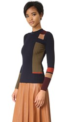 Whistles Ali Stripe Rib Sweater Multi