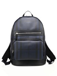 Burberry Signature Plaid Backpack Navy