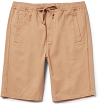 Folk Cotton Twill Shorts Brown