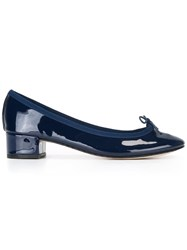 Repetto Ribbon Vamp Pumps Blue