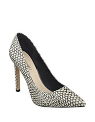 Nine West Tatiana Snakeskin Leather Pumps Black White