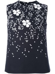 Dsquared2 Floral Detail Sleeveless Blouse Black