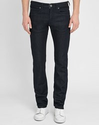 Armani Collezioni Blue J06 Raw Denim Slim Fit Jeans
