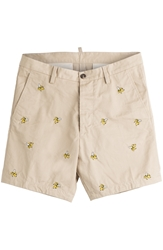 Dsquared Printed Cotton Shorts
