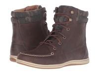 Sperry Bayfish Dark Brown Women's Lace Up Boots