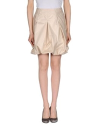 Husky Knee Length Skirts Beige
