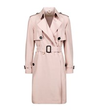 Burberry Everson Silk Wrap Trench Coat Female Light Pink