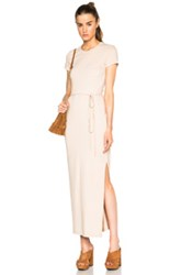 James Perse Long Pocket Tee Dress In Neutrals