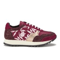 Markus Lupfer Women's Multi Printed Trainers Burgundy Multi Red Multi