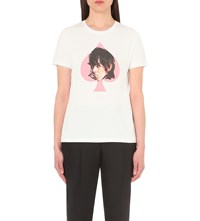 Undercover Ronnie Wood Print Cotton T Shirt White