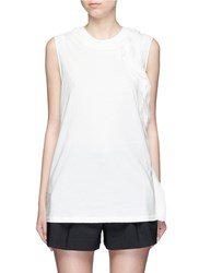 3.1 Phillip Lim Cascading Silk Trim Tank Top White