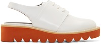 Stella Mccartney White Sling Back Brogues