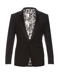 Alexander Mcqueen Single Breasted Wool And Mohair Blend Blazer Black