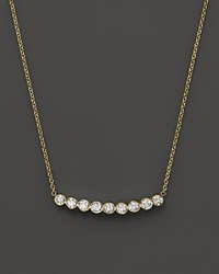 Zoe Chicco 14K Gold And Bezel Set Diamond Necklace 16