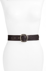 Lucky Brand Perforated Leather Belt Black