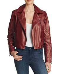 J Brand Adaire Leather Moto Jacket Oxblood