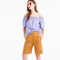 J.Crew Cuffed Bermuda Short In Linen