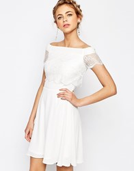 Elise Ryan 2 In 1 Lace Dress White