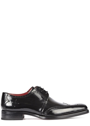 Jeffery West Bay Black Leather Brogues