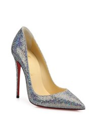 Christian Louboutin So Kate Glitter Disco Point Toe Pumps