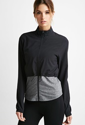 Forever 21 Layered Athletic Jacket Black Charcoal