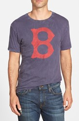 Men's Red Jacket 'Boston Red Sox Scatter' Burnout T Shirt