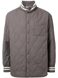 Cityshop Quilted Bomber Jacket Green