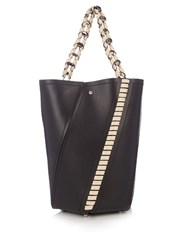 Proenza Schouler Hex Medium Leather Tote Black Cream
