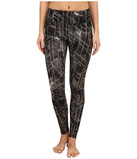 Zobha Kadin Printed Leggings Black Women's Workout