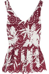 Ainea Broderie Anglaise Cotton Dress Claret