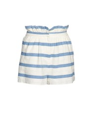 Mara Hoffman Striped Textured Cotton Shorts