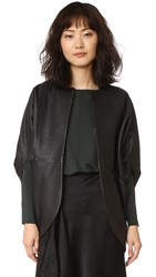 Zero Maria Cornejo Leather Rio Shrug Black