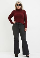 Forever 21 Plus Size Flared Jeans Charcoal