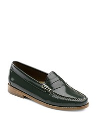 G.H. Bass Whitney Patent Leather Penny Loafers Spruce
