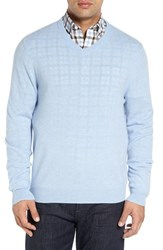 Nordstrom Men's Big And Tall Men's Shop Cashmere V Neck Sweater Blue Forever
