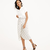 J.Crew Tulip Faux Wrap Skirt In Ivory Ikat
