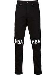 Hood By Air Logo Band Skinny Jeans Black