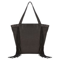 Mint Velvet Mila Fringe Tote Bag Black