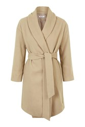Shawl Collar Wrap Coat By Wal G Camel